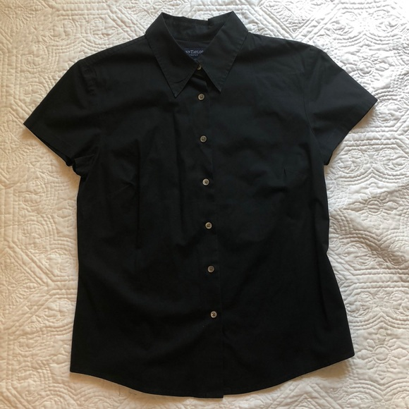Ann Taylor Tops - Ann Taylor button up shirt with capped sleeves